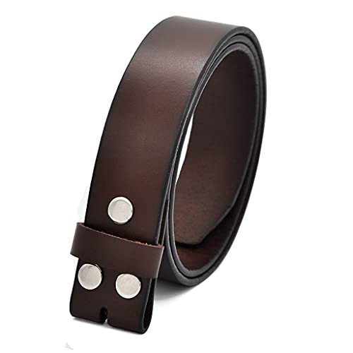 HBIN Genuine Leather Belts Without Buckle for Men Brand Strap Vintage Jeans Cowskin Strap with One...