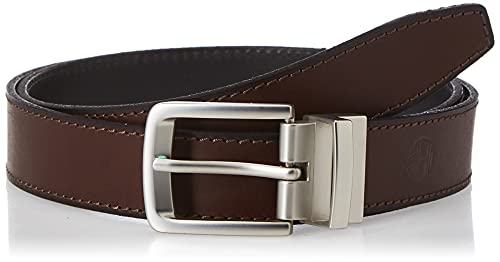Timberland Men's Big-tall Classic Leather Belt Reversible From Brown To Black Big and Tall,...