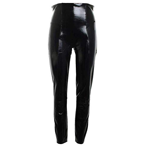 SPANX Faux Patent Leather Leggings Black Size Small