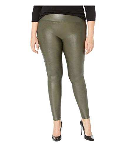 SPANX Faux Leather Leggings Rich Olive XL - Regular 30