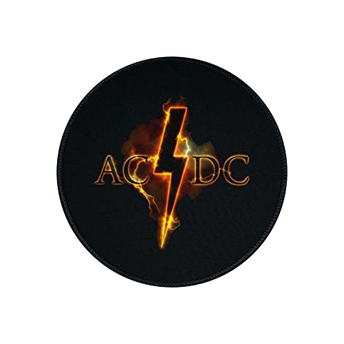 ACDC Mouse Pad Round Gaming Mouse Pad Creative Custom Non-Slip Mouse Mat