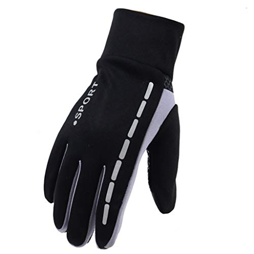 Mllkcao Mens Winter Therm Mitts with Anti-Slip Elastic Cuff, Thermal Soft Exercise Cycling Gloves...