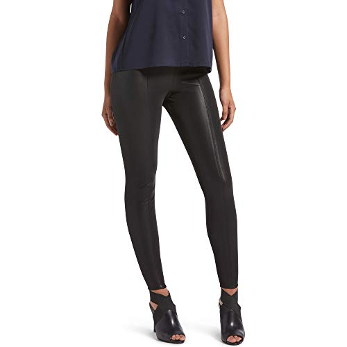 Kendall + Kylie Women's Pebbled Faux Leather Leggings, Black, Extra Large