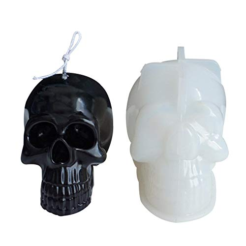 Skull Candle Flexible Silicone Mold Tray,Durable Mould Great for Creating Candle, Soap, Resin,for...