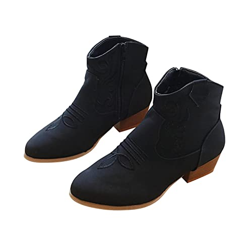 Gyouanime Shoes Womens Heeled Ankle Boots Comfy Chunky Heels Booties for Ladies Fashion Dress Shoes...