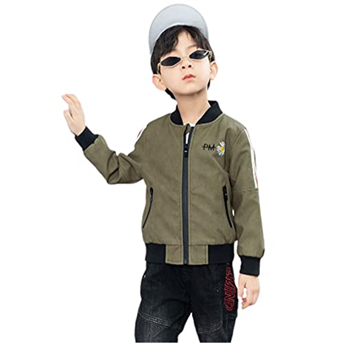 WYKDL Child Fashion Graffiti Boy Faux Leather, Belted Motorcycle Jacket,Suitable for Outdoor Travel...