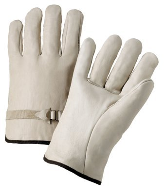 Anchor 6124L 4000 Series Leather Drivers Gloves with Pull Strap Large