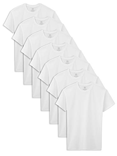 Fruit of the Loom Boys' Cotton White T Shirt, ice, L (Pack of 7)