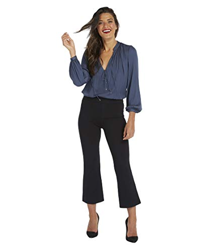 SPANX The Perfect Black Pant, Cropped Flare Classic Black MD - Regular