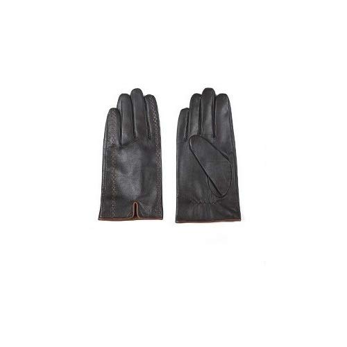Ashome Men's Actual Leather Gloves New Brand Touch Screen Gloves Fashion Strong Black Gloves...