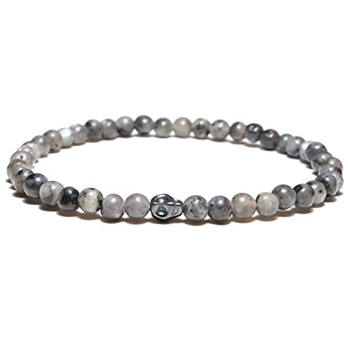 DQH 2021 Treny Small Beads Bracelet Mens Gothic Skeleton Skull Braslet Hand Accessories Natural Map...