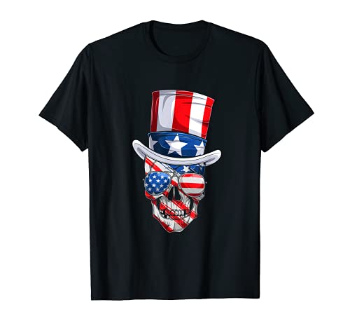 Dabbing Uncle Sam Skeleton Dab For Freedom 4th of July Skull T-Shirt