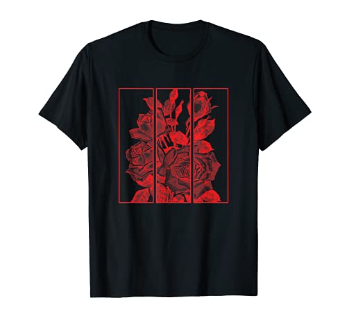 Red Roses Aesthetic Clothing Soft Grunge Clothes Women Men T-Shirt