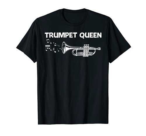 Funny Trumpet Player Art For Women Mom Brass Instrument Band T-Shirt