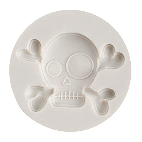 Gergxi Resin Pattern, Halloween Skull Head Silicone Mold Epoxy Resin Jewelry Mold Resin Casting...
