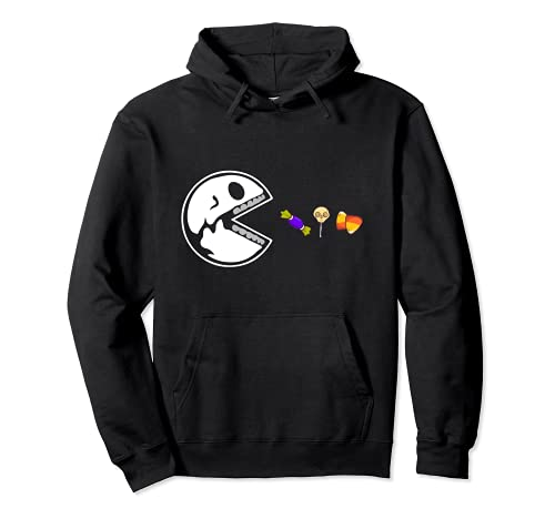 Skeleton Eats Candy Funny Halloween Lovers Pullover Hoodie