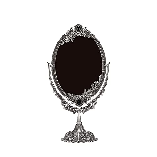 Small Hand Mirror, Double‑sided Mirror Makeup Mirror Exquisite Workmanship Sturdy for Special...