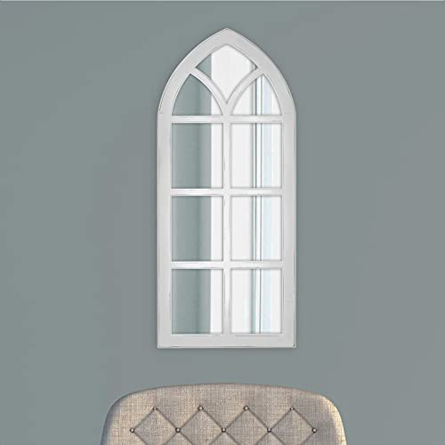 Fiscus Windowpane Wall Accent Mirror, Overall Product Weight: 11.15 lb, Shape: Arch/Crowned top
