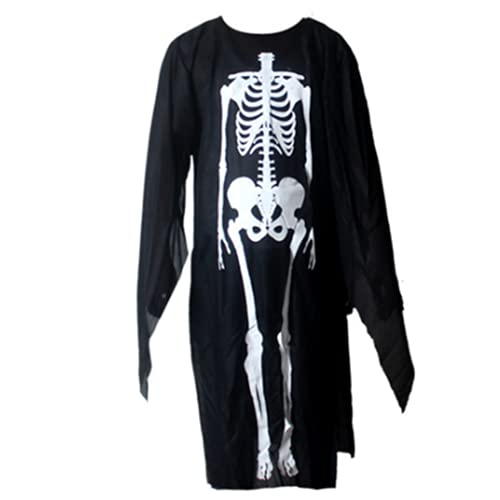 AOXIANG Halloween Skeleton Costume Clothes Ghost Cloak Skeleton Coat (Adult)