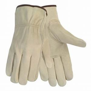 LARGE WORK GLOVES 12 Pair Durable Cowhide Leather for Construction, Industrial & Personal Use. Small...