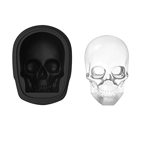 SOLE HOME 3D Skull Ice Cube Tray, Skull Shaped Ice Cube Mold, Flexible Safe Silicone Material, Makes...