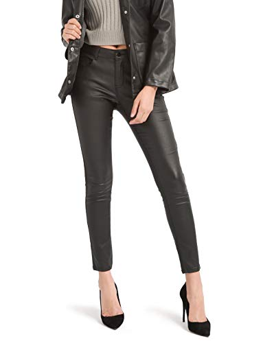 Bamans Women's Faux Leather Pants, Skinny Stretch Pants with Pockets, Work Casual Pants for Women...