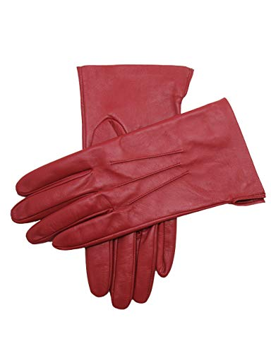 YISEVEN Women's Unlined Leather Gloves Italian Lambskin Three Points Long Cuff Design Hand Warm and...