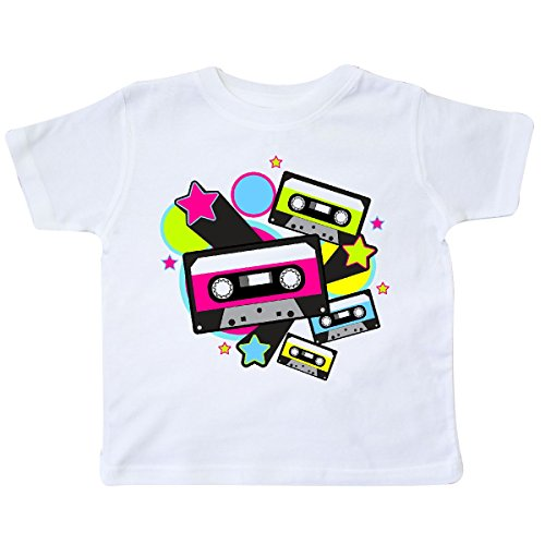 inktastic The 80s Cassette Tapes Toddler T-Shirt 2T White 31759