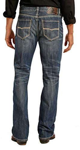 Rock & Roll Denim Relaxed Fit Straight Bootcut Jeans #M0S8553 34 W x 32 L