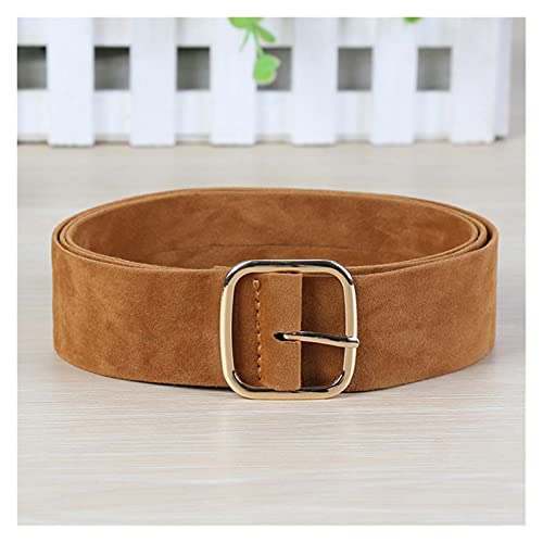 DONGMAISM Belt Women Leather Metal Pin Buckle Solid Elegant Waistbands Double-Breasted Punching Male...