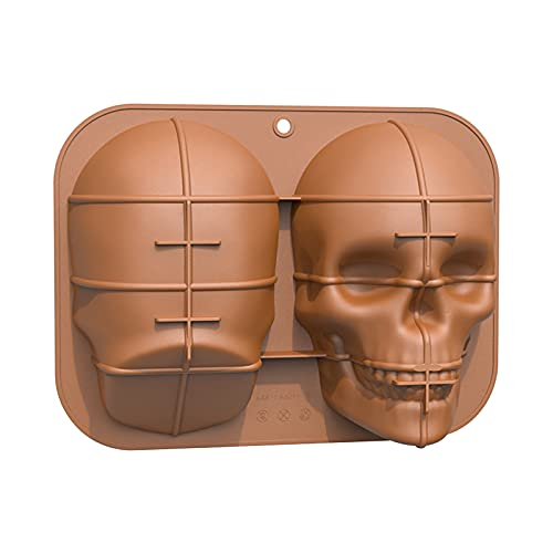 Skull Head Mold Silicone Mold Candy Chocolate Fondant Mold Cookie Decorating Mold Desserts Mousse...