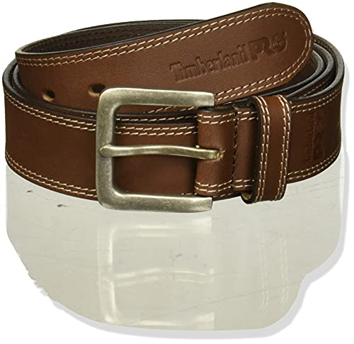 Timberland PRO Men's 38mm Boot Leather Belt, Brown, 38