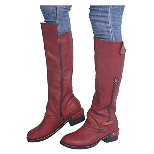 XHLEMON Women Vintage Victorian Gothic Mid Calf Height Boots Casual Lace up Thick High Heels Booties...