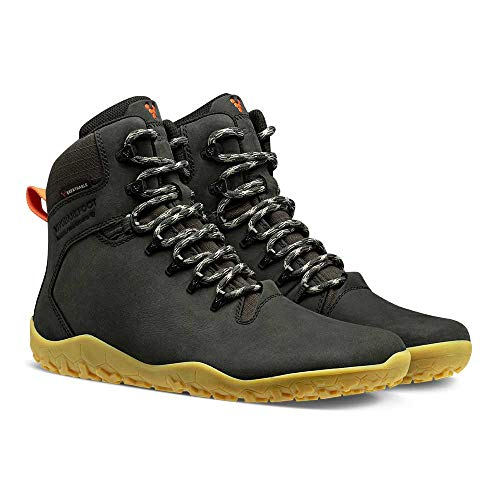 VIVOBAREFOOT Tracker II FG, Mens Leather Waterproof Hiking Boot With Barefoot Firm Ground Sole and...