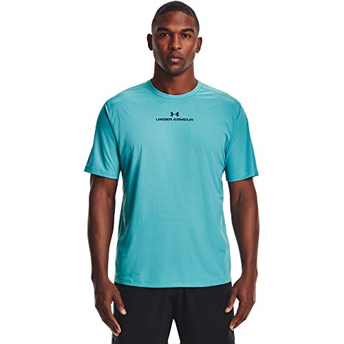 Under Armour Men's Coolswitch Short-Sleeve T-Shirt , Cosmos (476)/Black , Large