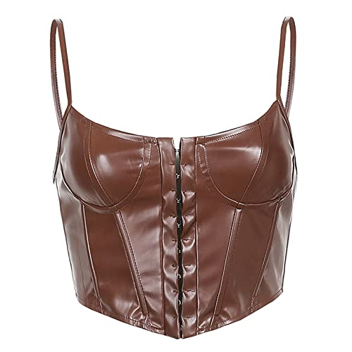 Women's Backless Corset Street Style Crop Top Bra Women Lingerie Gothic Clothing (Color : B, Size :...