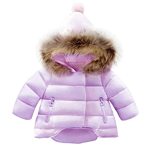 Baby Girls Boys Hooded Snowsuit Coat - Winter Warm Children Clothes Witch Hat Solid Down Windproof...