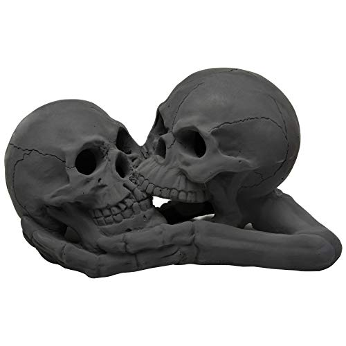 Stanbroil A Pair of Imitated Black Human Skull and Bones Gas Log for Indoor or Outdoor, Fireplaces,...