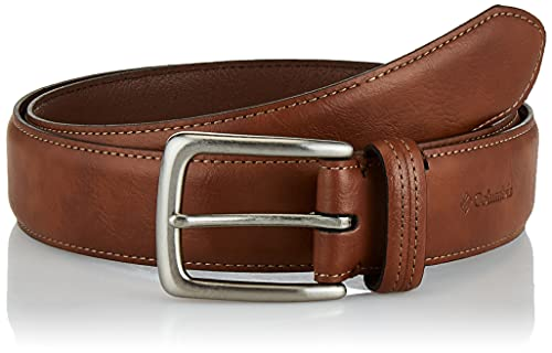 Columbia Men's Standard Trinity Logo Belt-Casual Dress with Single Prong Buckle for Jeans Khakis,...