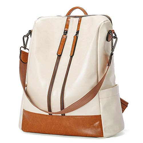CLUCI Women Backpack Purse Leather Fashion Travel Casual Detachable Ladies Covertible Large M/S...