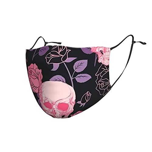 Sk-Ull and Rosesface Mask Comfortable Adjustable Funny Pattern Facial Decorations for Women and Men...