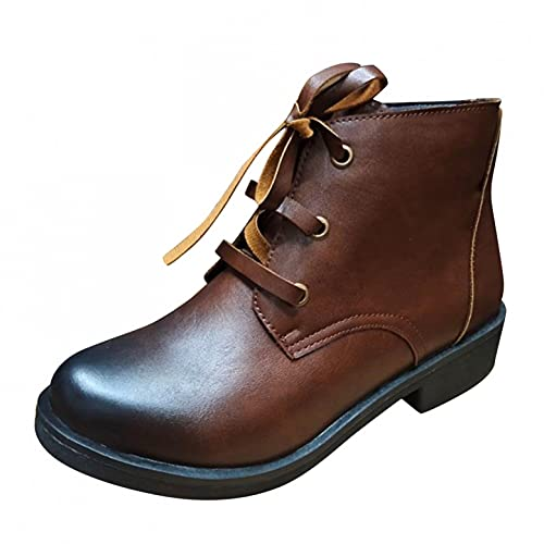 Gyouanime Ankle Boots Womens Shoes Winter Fashion Flat Boots Short Casual Comfy Autumn Booties for...