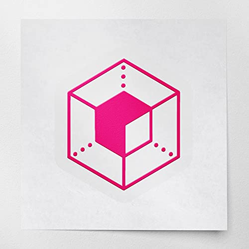 Decal Stickers of Enigma Eng Crypto Currency Blockchain (Pink) (Set of 2) Luxury Weatherproof Vinyl...