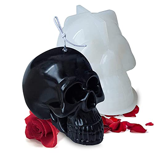 Lantsang Candle Molds for Candle Making, 3D Skull Shape Silicone Molds Candle for Making...