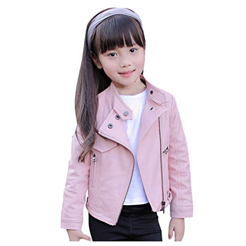 Lingery Toddler Baby Boy Girl Motorcycle Faux Leather Jackets Coat Winter Outwear for 1-8Y (5-6...
