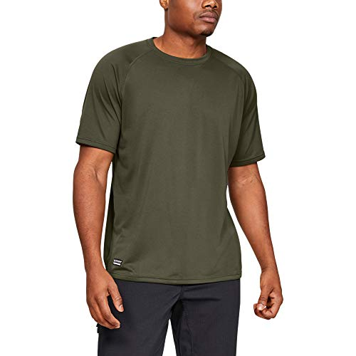 Under Armour Men's Tactical Tech T-Shirt , Marine Od Green (390)/Clear, Large
