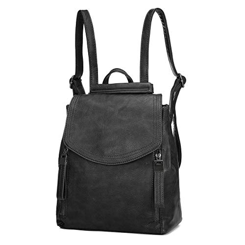 Women Backpack, JOSEKO Leather Flap Backpack Purse Casual Daypack for Ladies College Girls with...