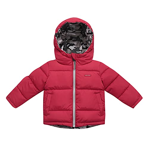Reversible Little Boys Girls Jacket Fashion Camouflage Solid Parkas Active Outdoor Baseball Collar...