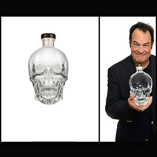 GAOXIAOMEI 400 Ml Whiskey Decanter,Wine Decanter Crystal Large Skull Face Bottle,Lead-Free Thickened...