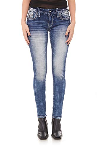 Rock Revival - Womens Rio Red S202 Skinny Jeans, Size: 26, Color: Denim